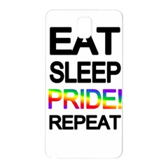 Eat sleep pride repeat Samsung Galaxy Note 3 N9005 Hardshell Back Case