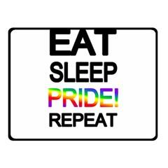 Eat sleep pride repeat Double Sided Fleece Blanket (Small)