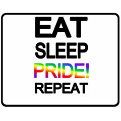 Eat sleep pride repeat Double Sided Fleece Blanket (Medium)