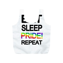 Eat sleep pride repeat Full Print Recycle Bags (S)