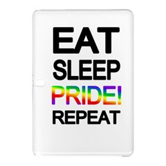Eat sleep pride repeat Samsung Galaxy Tab Pro 12.2 Hardshell Case