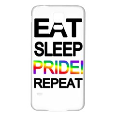 Eat sleep pride repeat Samsung Galaxy S5 Back Case (White)