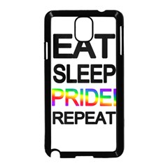 Eat sleep pride repeat Samsung Galaxy Note 3 Neo Hardshell Case (Black)