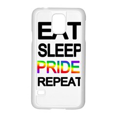 Eat sleep pride repeat Samsung Galaxy S5 Case (White)
