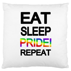 Eat sleep pride repeat Large Flano Cushion Case (Two Sides)