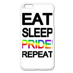 Eat sleep pride repeat Apple iPhone 6 Plus/6S Plus Enamel White Case