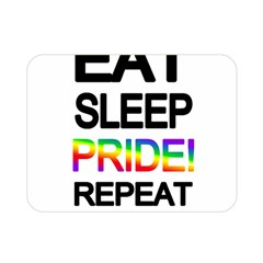 Eat sleep pride repeat Double Sided Flano Blanket (Mini)