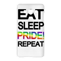 Eat sleep pride repeat Samsung Galaxy A5 Hardshell Case