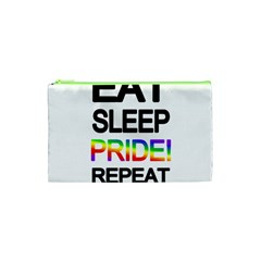 Eat sleep pride repeat Cosmetic Bag (XS)