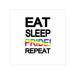 Eat sleep pride repeat Small Satin Scarf (Square)