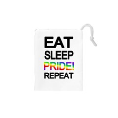 Eat sleep pride repeat Drawstring Pouches (XS)