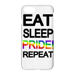 Eat sleep pride repeat Apple iPhone 7 Hardshell Case