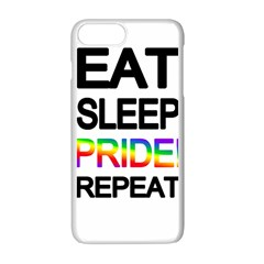 Eat sleep pride repeat Apple iPhone 7 Plus White Seamless Case
