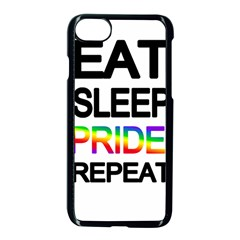 Eat sleep pride repeat Apple iPhone 7 Seamless Case (Black)