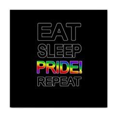 Eat sleep pride repeat Tile Coasters