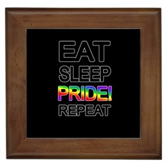 Eat sleep pride repeat Framed Tiles