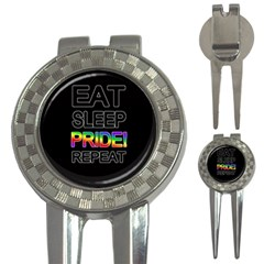 Eat sleep pride repeat 3-in-1 Golf Divots