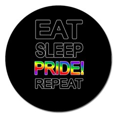 Eat sleep pride repeat Magnet 5  (Round)