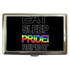 Eat sleep pride repeat Cigarette Money Cases