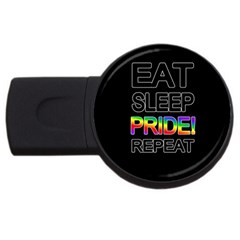 Eat sleep pride repeat USB Flash Drive Round (2 GB)