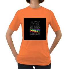 Eat sleep pride repeat Women s Dark T-Shirt