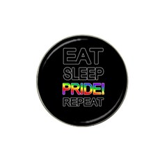 Eat sleep pride repeat Hat Clip Ball Marker