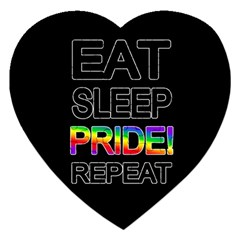 Eat sleep pride repeat Jigsaw Puzzle (Heart)