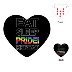 Eat sleep pride repeat Playing Cards (Heart)