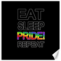 Eat sleep pride repeat Canvas 16  x 16