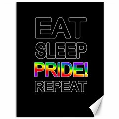 Eat sleep pride repeat Canvas 36  x 48