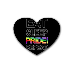 Eat sleep pride repeat Heart Coaster (4 pack)