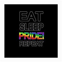 Eat sleep pride repeat Medium Glasses Cloth