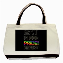 Eat sleep pride repeat Basic Tote Bag (Two Sides)