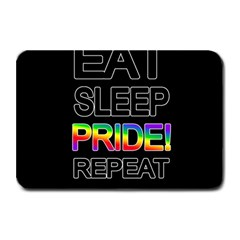 Eat sleep pride repeat Plate Mats