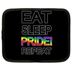 Eat sleep pride repeat Netbook Case (Large)