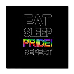 Eat sleep pride repeat Face Towel