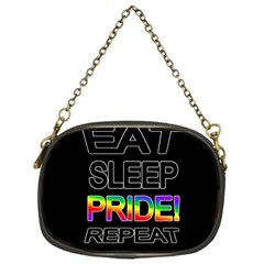 Eat sleep pride repeat Chain Purses (One Side)