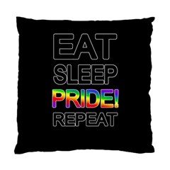 Eat sleep pride repeat Standard Cushion Case (Two Sides)