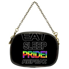 Eat sleep pride repeat Chain Purses (Two Sides)