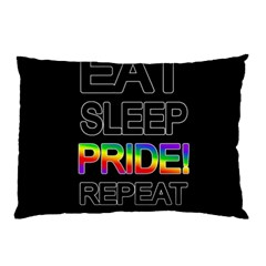 Eat sleep pride repeat Pillow Case