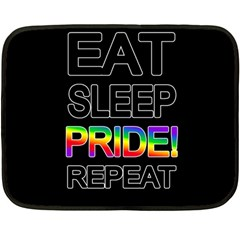 Eat sleep pride repeat Double Sided Fleece Blanket (Mini)