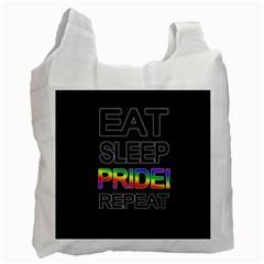 Eat sleep pride repeat Recycle Bag (Two Side)