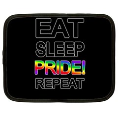 Eat sleep pride repeat Netbook Case (XL)