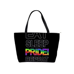 Eat sleep pride repeat Shoulder Handbags