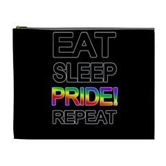Eat sleep pride repeat Cosmetic Bag (XL)