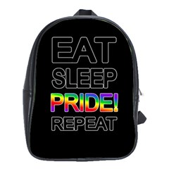 Eat sleep pride repeat School Bags(Large)
