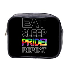 Eat sleep pride repeat Mini Toiletries Bag 2-Side