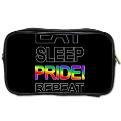 Eat sleep pride repeat Toiletries Bags