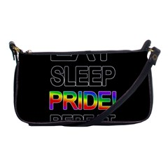 Eat sleep pride repeat Shoulder Clutch Bags