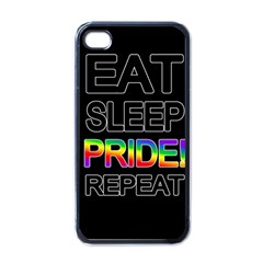 Eat sleep pride repeat Apple iPhone 4 Case (Black)